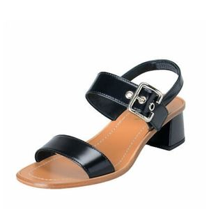 Michael Kors Black & Brown Strappy Buckle Sandals